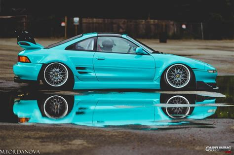 stanced toyota stanced toyota mr2 side