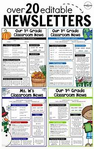 editable newsletter templates school teacher and With student newsletter templates free