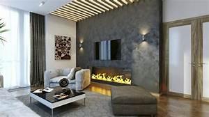 Steinwand Wohnzimmer Tv : steinwand wohnzimmer 43 beispiele wie steine auf das ambiente wirken ~ Bigdaddyawards.com Haus und Dekorationen