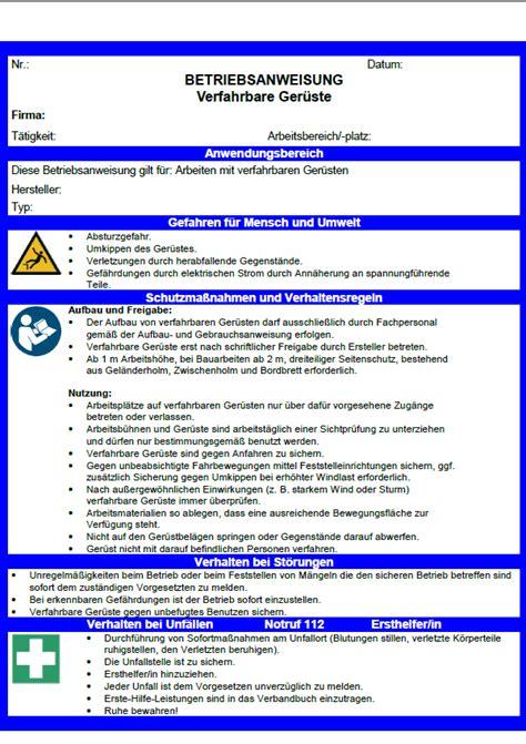 checkliste fahrgerueste zum sofortigen