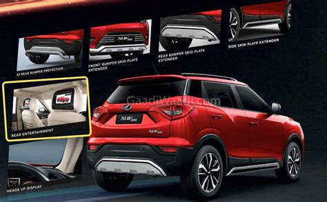mahindra xuv offered   range  accessories details