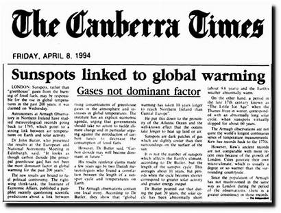 Times Canberra Fake Warming Global Climate Science
