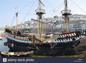 The Golden Hind In Brixham Harbour River Dart South
