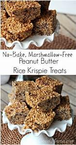 No-Bake Peanut Butter Rice Krispie Treats Recipe - The ...