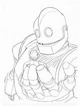 Giant Iron Coloring Pages Printable Robot Sketch Getcolorings Print Getdrawings Templates August Template sketch template