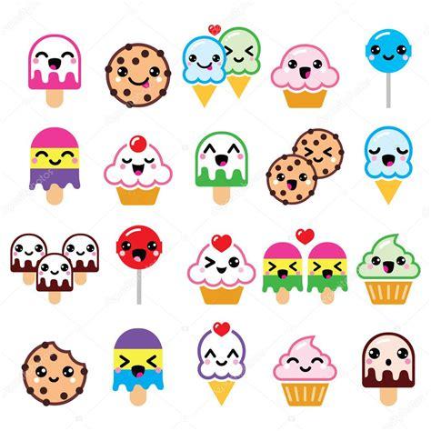 cuisine kawaii kawaii food characters cupcake cookie