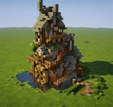 fantasy watermill build inspo   pics  comments minecraft