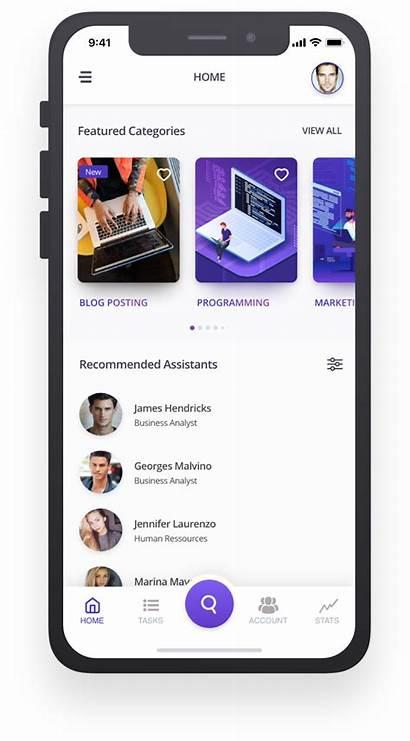 Assistant Virtual Mobile Ui Ux Behance
