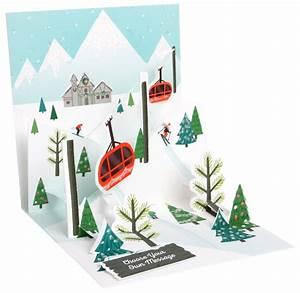 Pop Up Karte Weihnachten : pop up 3d weihnachten karte popshot winter berglandschaft 13x13 cm 509823 ~ Buech-reservation.com Haus und Dekorationen