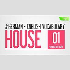 German To English Vocabulary  House Part 1  Kostenlos Englisch Lernen  Englisch Lernen 5