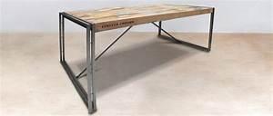 Table A Manger Rectangulaire : table manger rectangulaire en bois recycl industryal ~ Teatrodelosmanantiales.com Idées de Décoration