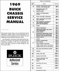 1969 Buick Repair Shop Manual Original Gs  Skylark  Riviera  Lesabre