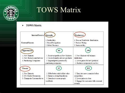 tows matrix starbucks google search tools  business