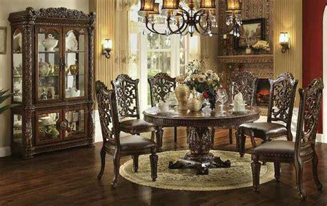 vendome large  formal dining room set acme