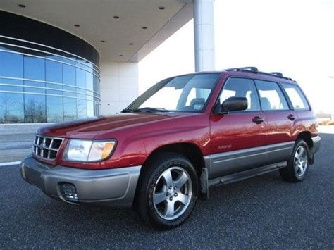 red subaru forester 2000 purchase used 2000 subaru forester s awd only 66k miles 1