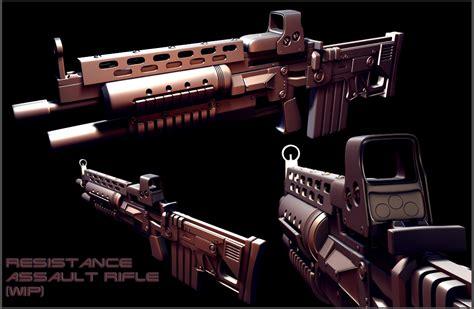 resistance assault rifle highpoly image fps terminator mod db