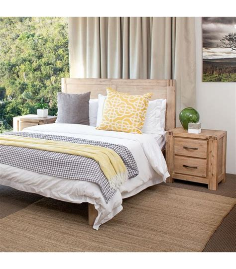 vancouver acacia wood bed base queen
