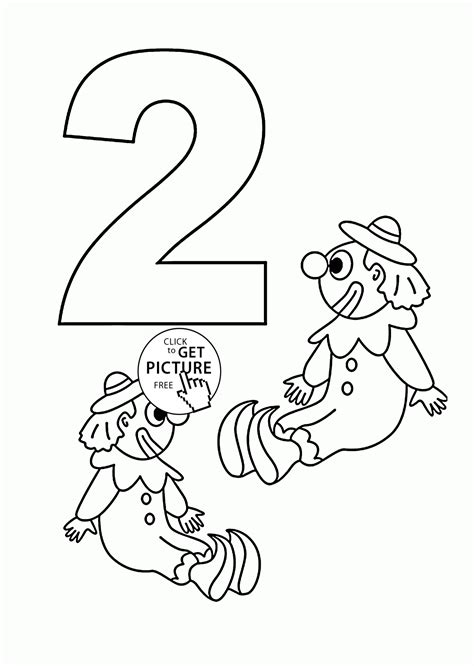 number  coloring page