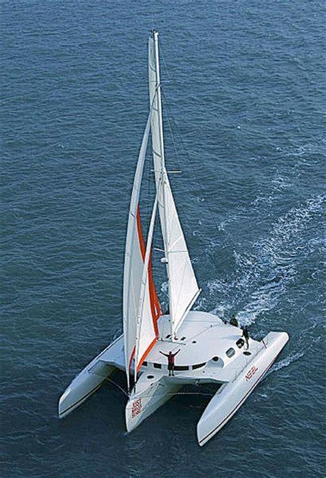 trimarans sailing images  pinterest sailing