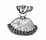Coloring Printable Gown Costume Pretty Dress4 Outline Twistynoodle sketch template