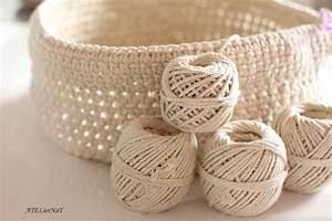 Corbeille Au Crochet : panier en corde au crochet le grand mod le ateliernat cr ations d co loisirs cr atifs ~ Preciouscoupons.com Idées de Décoration