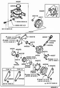 Toyota Camry Power Steering Pump  Pump  Vane