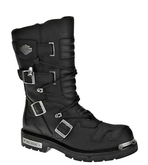 mens black motorcycle riding boots harley davidson mens 10 quot tall axel riding black leather