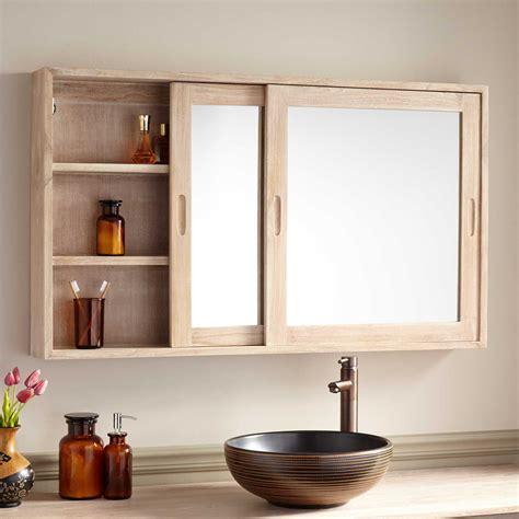 wulan teak medicine cabinet natural teak bathroom