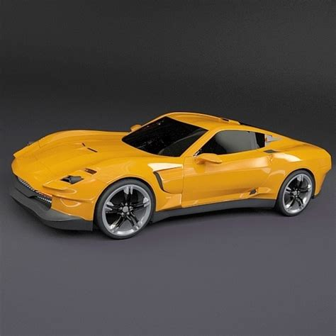 Models Sports Car by Yellow Sports Car 3d Model Obj 3ds Fbx Lwo Lw Lws Blend