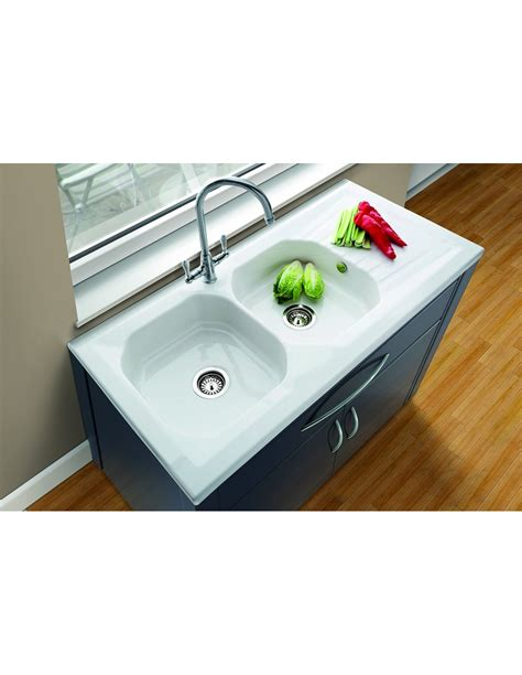 ceramic kitchen sinks uk sit on drainer single bowl sink stainless steel 5182