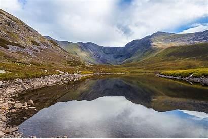 Carrauntoohil Reeks Ireland Semmick Reflection Lough Highest