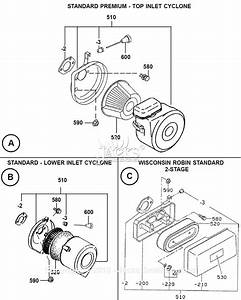 Robin  Subaru Eh34 Parts Diagram For Air Cleaner Assembly