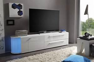 Meuble Tv Led Blanc Laqué : meuble tv san francisco laque blanc brillant solutions pour la d coration int rieure de votre ~ Teatrodelosmanantiales.com Idées de Décoration