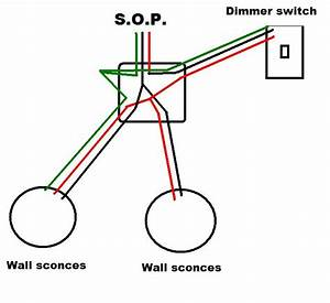 wiring two wall sconces from a common junction box With wiring a light with junction box