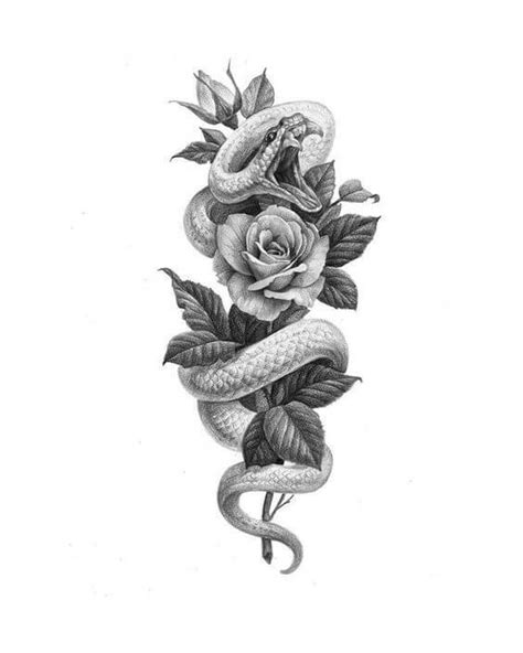 36+ Best Snake And Flower Tattoo Designs & Meanings | PetPress