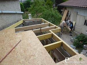 Toiture Metallique Pour Maison : chantier auto construction toit terrasse toiture ~ Premium-room.com Idées de Décoration