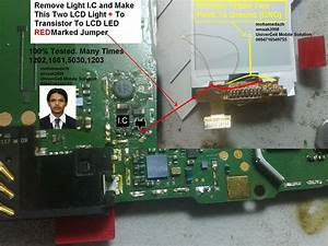 Nokia 1203 Lcd Light Solution Without Light Ic Jumpers Ways