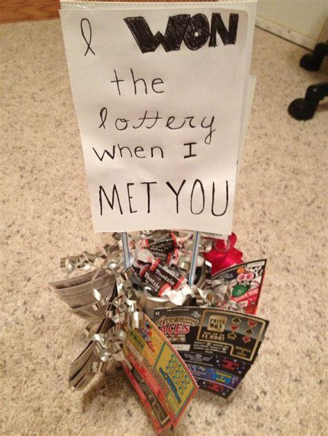 homemade boyfriend gift  candies  lottery