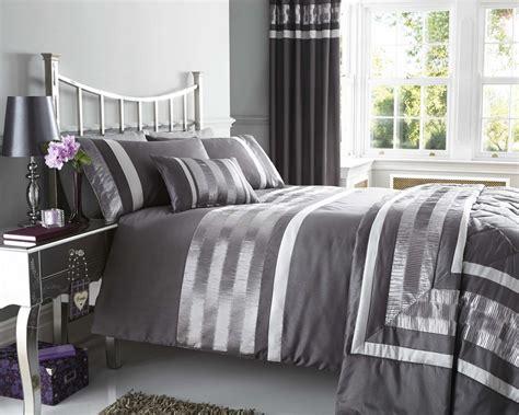 grey duvet cover king grey faux silk duvet quilt cover bed set throw cushion