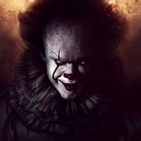 wallpaper pennywise  clown fan art  movies