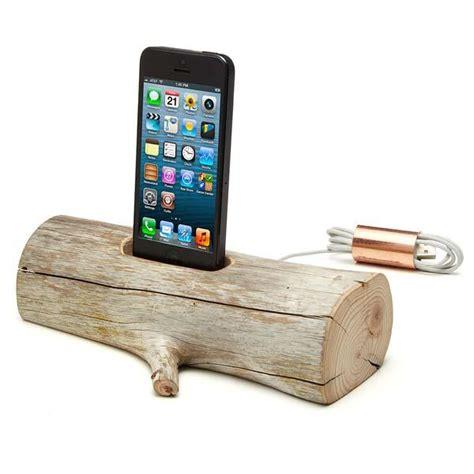 wooden iphone station driftwood iphone station gadgetsin