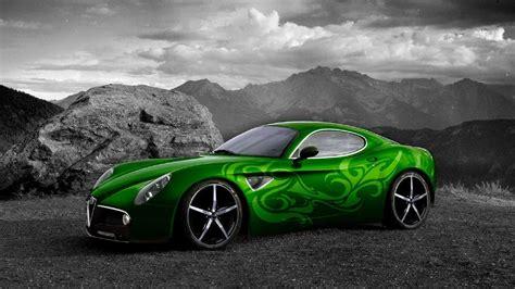 Green Car Background Wallpaper