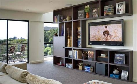 Tv Room Wall In Modern Living Room