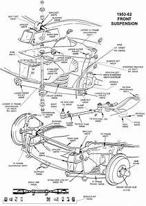 1953-62 Front Suspension - Diagram View