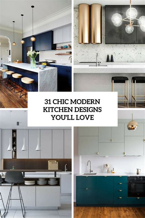 31 Chic Modern Kitchen Designs You'll Love   DigsDigs