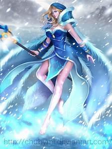 Crystal maiden Arcana by ChubyMi on DeviantArt