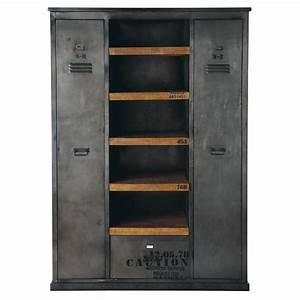 metal closet bed room furniture rj19 product With armoire maison du monde