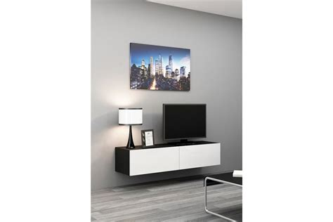 tv dans chambre meuble tv design suspendu vito 140cm design