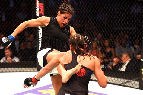 ufcs julianna pena arrested    groin kick