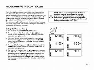 Programming The Controller  Setting The Date And Time